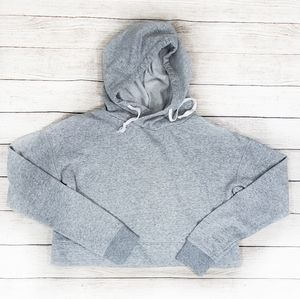 The Lounge Life Cropped Grey Hoodie